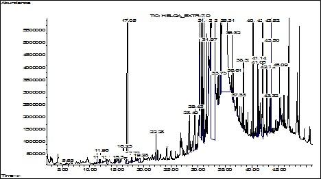 Chromatographic profile of Galium aparine herb lipophilic complex
