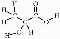 Chemical Structure of Lactic Acid